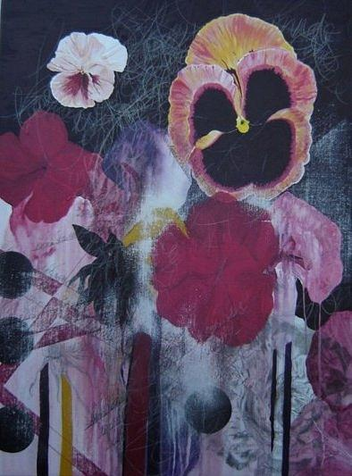 Surreal Pansies. Painting - Pansies. by Cima Azimi