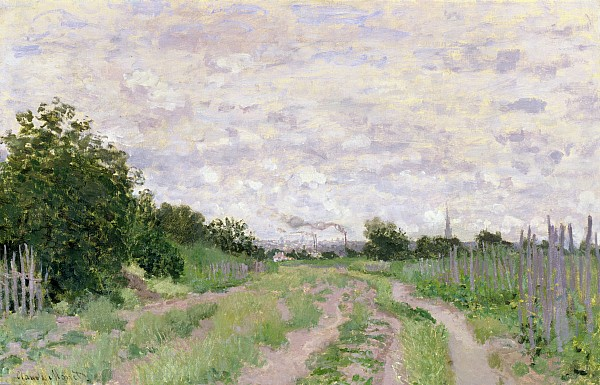 Path Painting - Path Through The Vines At Argenteuil by Claude Monet