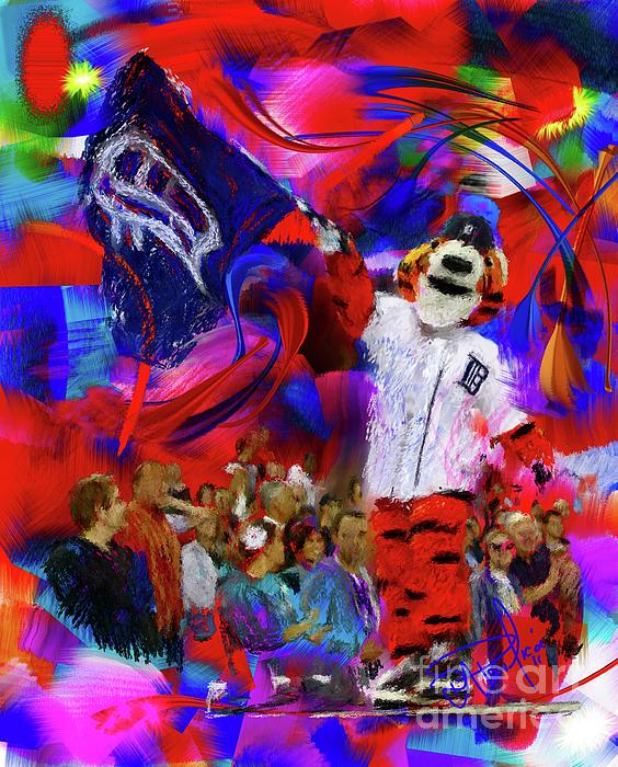 Baseball Painting - Paws  by Donald Pavlica