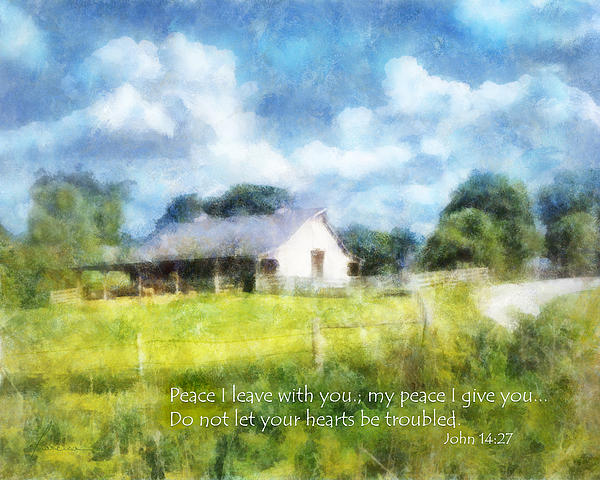 Barn Digital Art - Peace Be With You by Francesa Miller