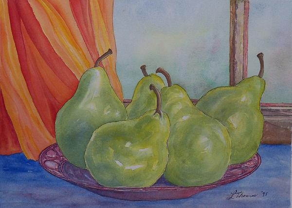 Still Life Painting - Pears At The Window by Laurel Thomson
