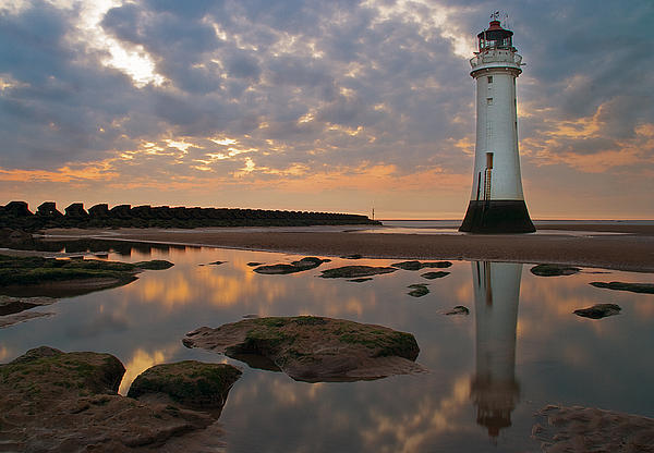 Lighthouse Photograph - Perch Rock Lighthouse by Wayne Molyneux
