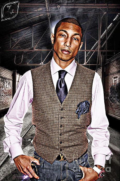 Pharrell Digital Art - Pharrell by The DigArtisT