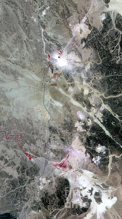 Phosphorus Photograph - Phosphate Mines, Jordan by Nasa