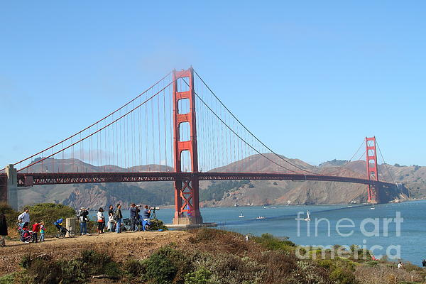 San Francisco Photograph - Photographing The San Francisco Golden Gate Bridge . 7d7787 by Wingsdomain Art and Photography