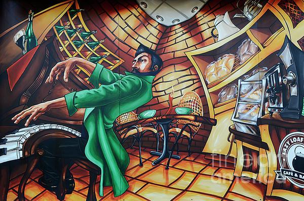 Graffiti Photograph - Piano Man 2 by Bob Christopher
