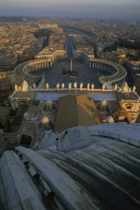 Piazza San Pietro Photograph - Piazza San Pietro As Seen From The Dome by James L. Stanfield