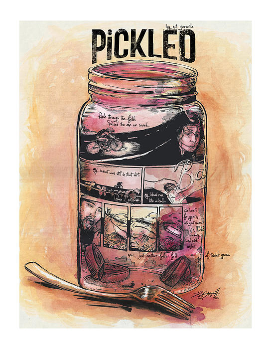 Beets Painting - Pickled by Nik Garvoille