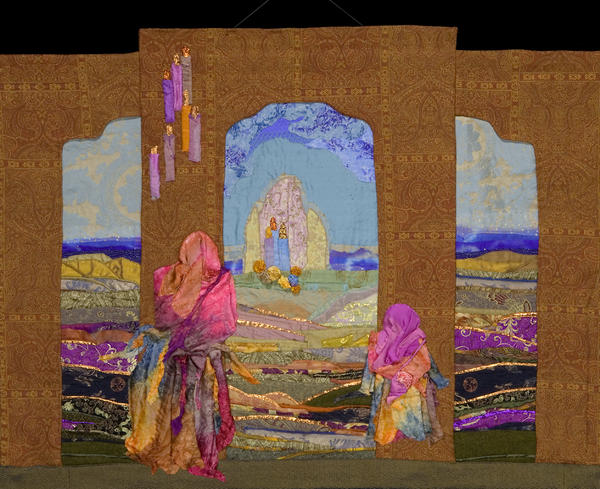 Quilt Tapestry - Textile - Pilgrimage by Roberta Baker