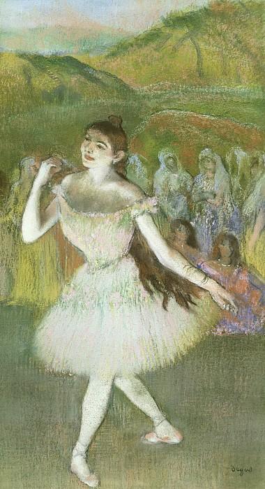 Pink Pastel - Pink Dancer  by Edgar Degas
