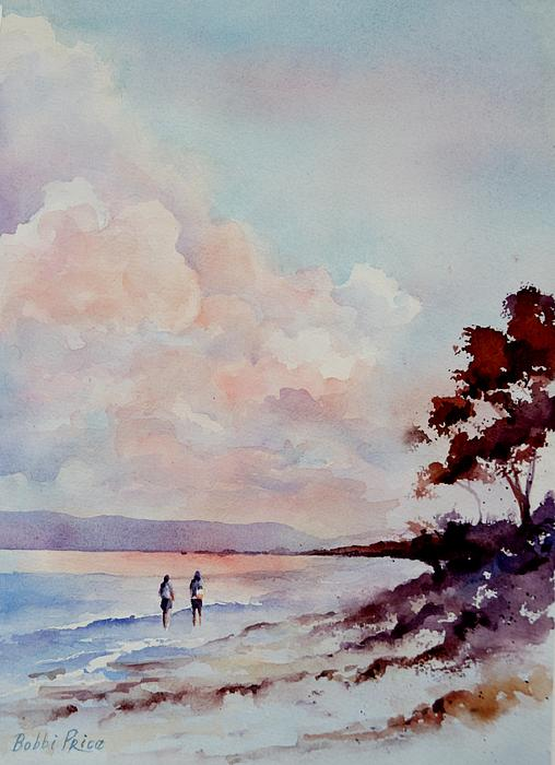 Watercolor Painting - Pink Dawn by Bobbi Price