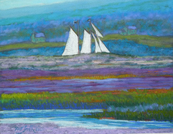 Pirates Pastel - Pirates On The Lahave River by Rae  Smith PSC