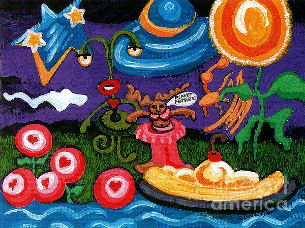 Fun Painting - Planet Fantastic by Genevieve Esson