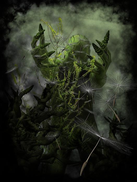 Gothic Digital Art - Plant Man Cometh by Michael Knight