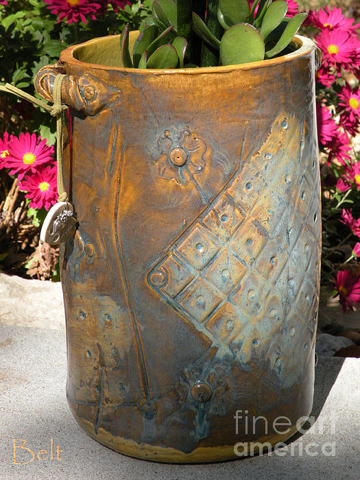 Clay Ceramic Art - Planter by Christine Belt