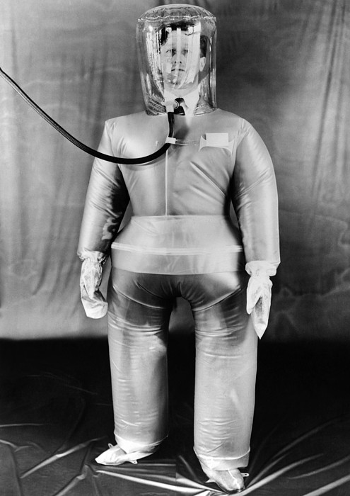 History Photograph - Plastic Protective Outfit Filled by Everett