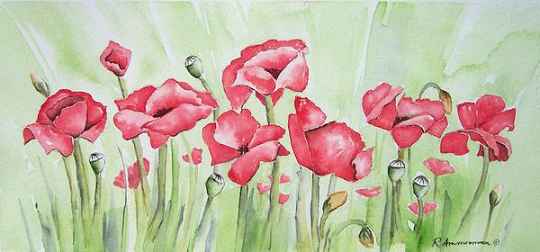 Poppies Painting - Poppy Field by Regina Ammerman