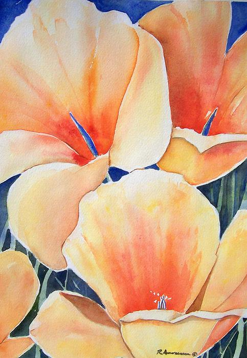 Poppies Painting - Poppy Song by Regina Ammerman
