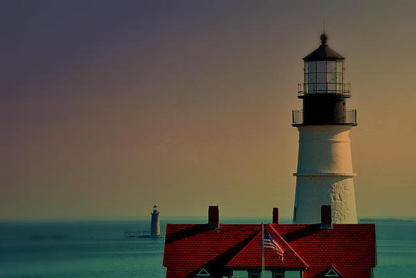 Portland Head Lighthouse Photograph - Portland Double by Emily Stauring