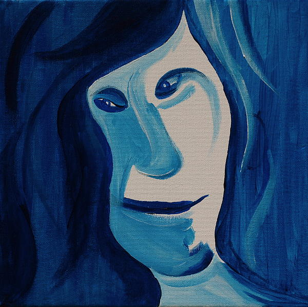 Blue Painting - Portrait In Blue by Sheep McTavish