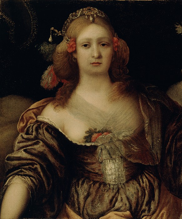 Portrait Painting - Portrait Of A Young Woman  by Girolamo Forabosco