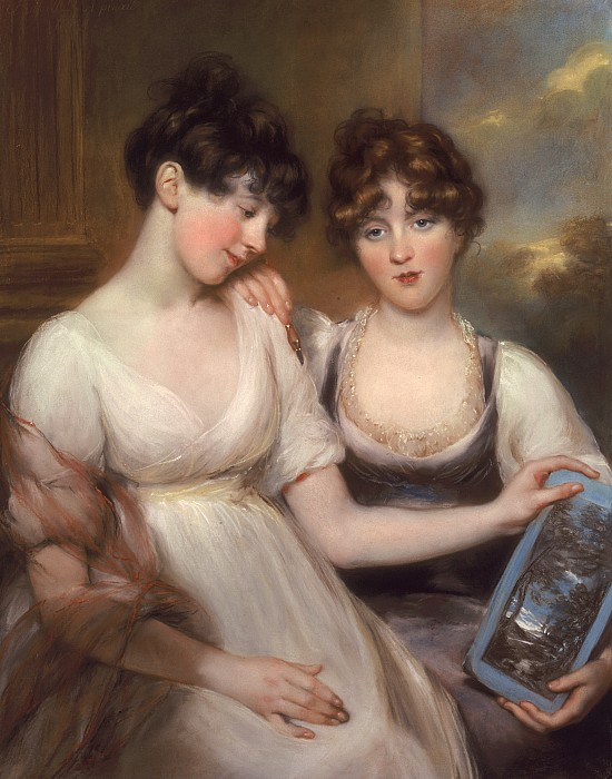 Portrait Photograph - Portrait Of Anne And Maria Russell by John Russell