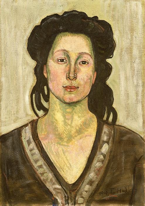 Portrait Painting - Portrait Of Jeanne Cerani by  Ferdinand Hodler