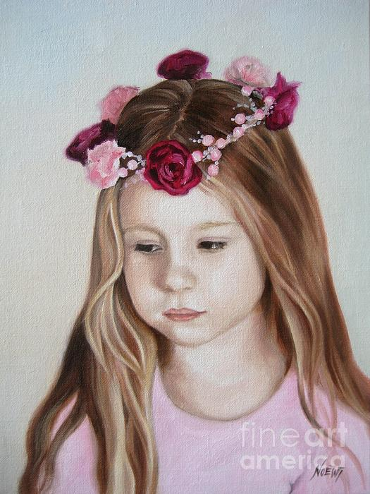Portrait Painting - Portrait Of Kristinka by Jindra Noewi