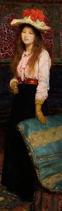 Portraits Painting - Portrait Of Miss Macwirter by Sir Lawrence Alma-Tadema