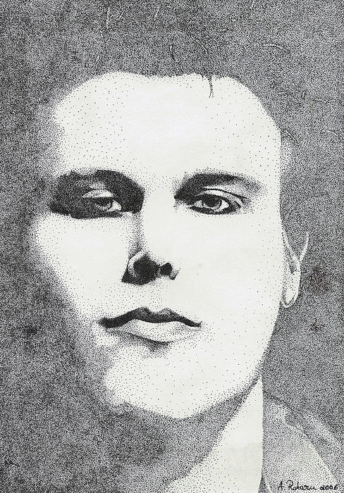Ville Valo Drawing - Portrait Of Ville Valo by Alice Rotaru