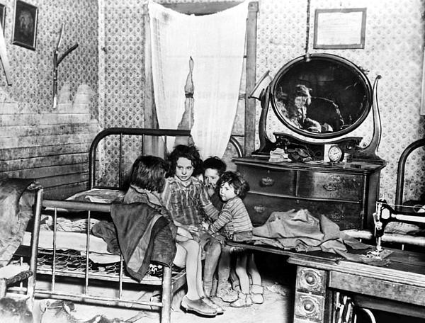 1920s Photograph - Poverty Stricken Children In A Rural by Everett