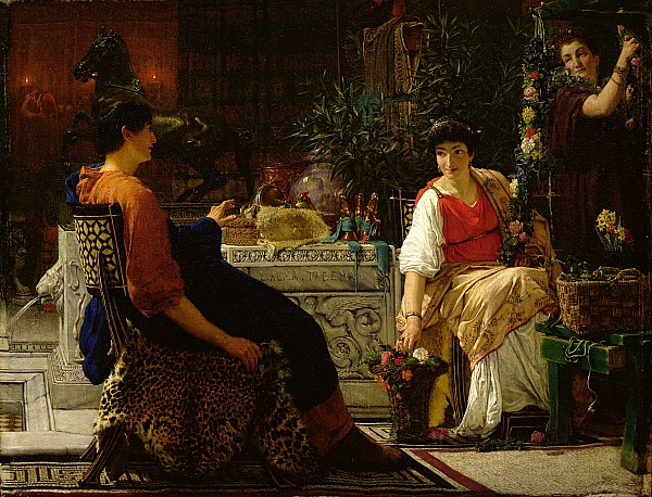 Preparations Painting - Preparations For The Festivities by Sir Lawrence Alma-Tadema
