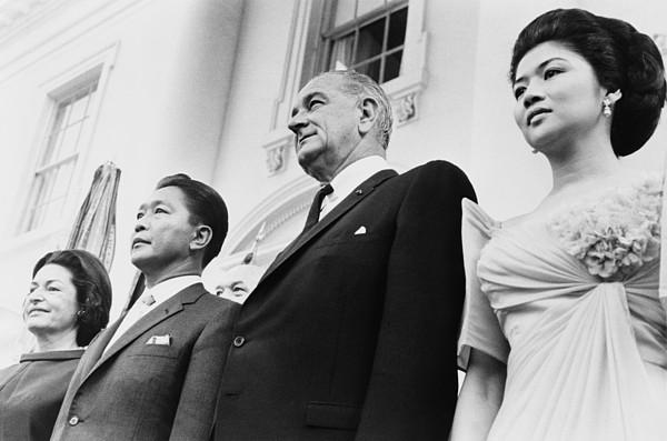 History Photograph - President And Lady Bird Johnson by Everett