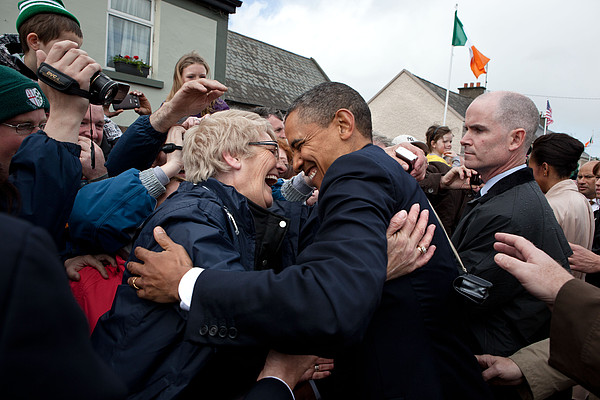President Barack Obama Greets A Local Photograph by Everett