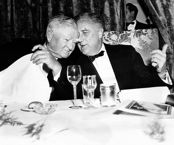 History Photograph - President Franklin Roosevelt And Vp by Everett
