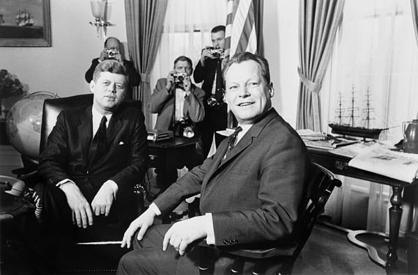 History Photograph - President John F. Kennedy And Mayor by Everett