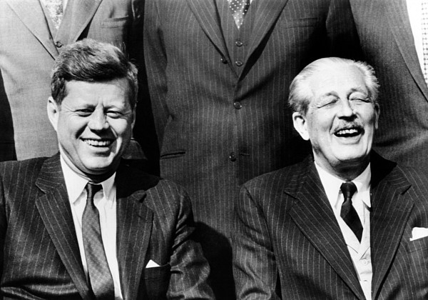 History Photograph - President John Kennedy And British by Everett