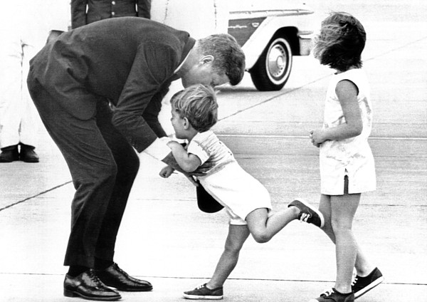 History Photograph - President John Kennedy Is Greeted by Everett