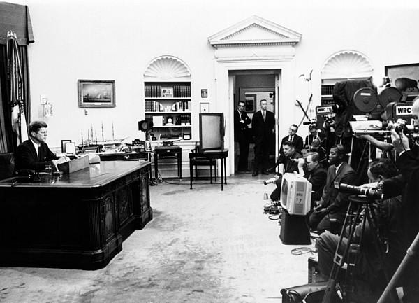 History Photograph - President John Kennedy Television by Everett