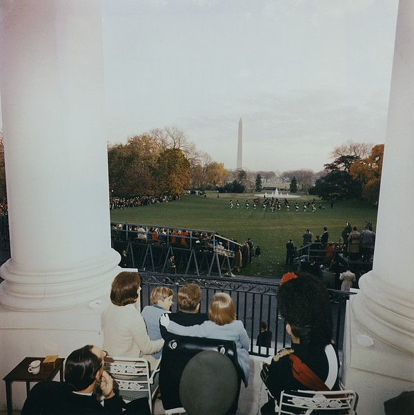 History Photograph - President Kennedy And His Family Watch by Everett