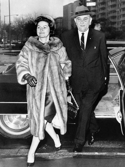 History Photograph - President Lyndon And Lady Bird Johnson by Everett