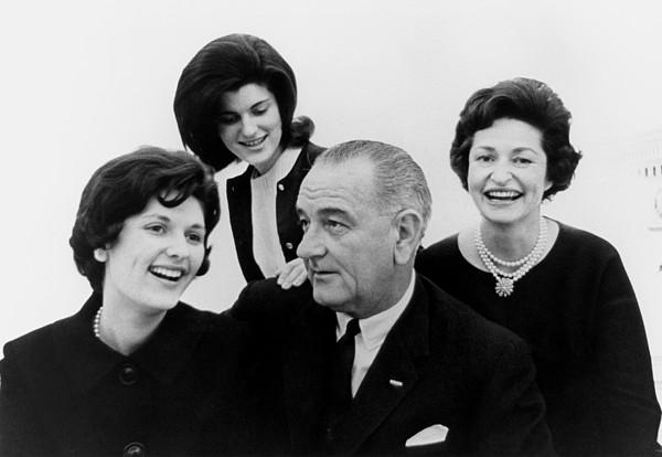 History Photograph - President Lyndon Johnson Family by Everett