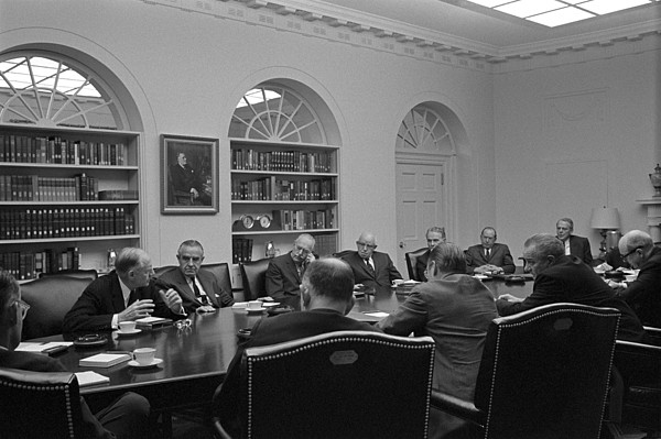 History Photograph - President Lyndon Johnson Meets With The by Everett