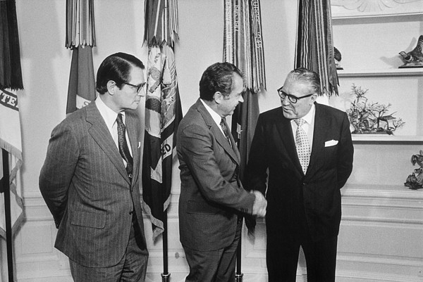 History Photograph - President Nixon With Attorney-general by Everett