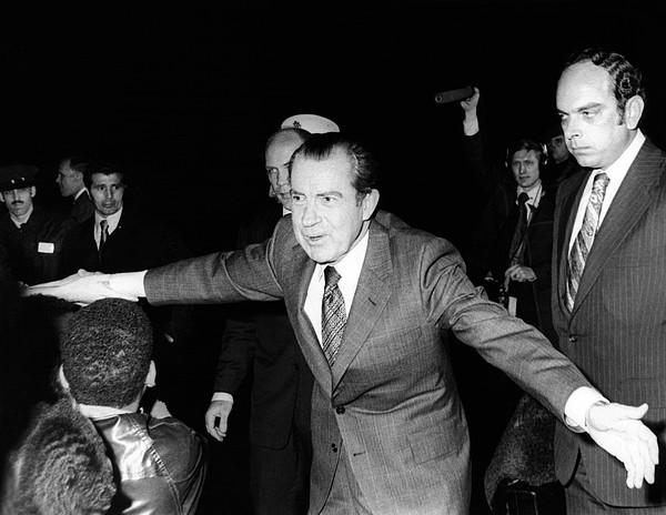 History Photograph - President Richard Nixon Extends Himself by Everett
