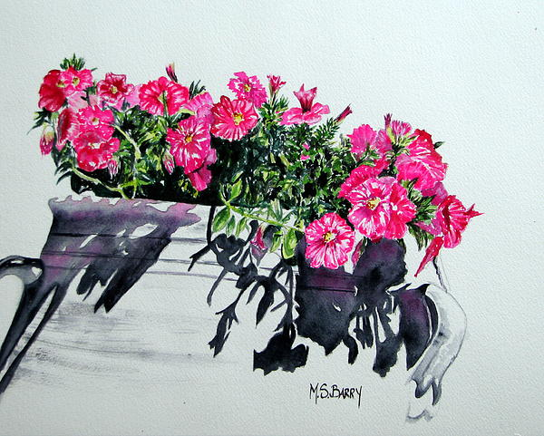 Pink Flowers Painting - Pretty In Pink by Maria Barry