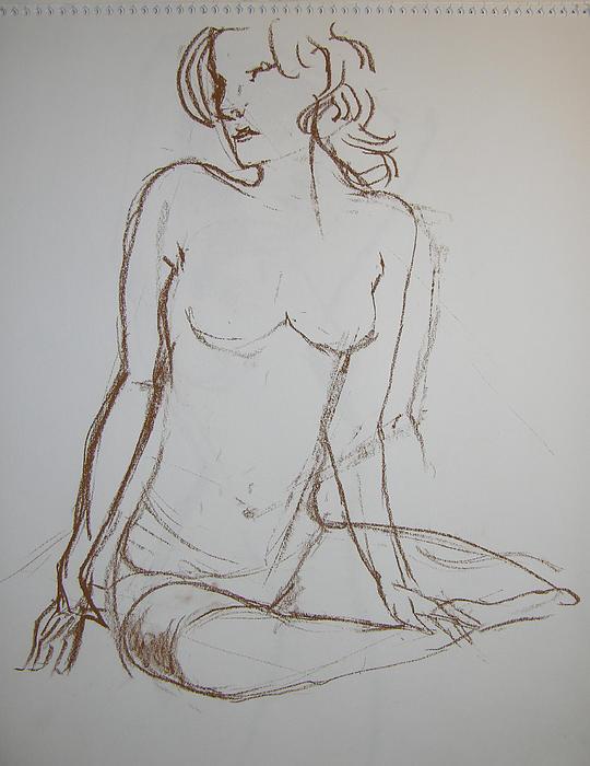 Nude Drawing - Pretty by Karen Agni-Kratzer
