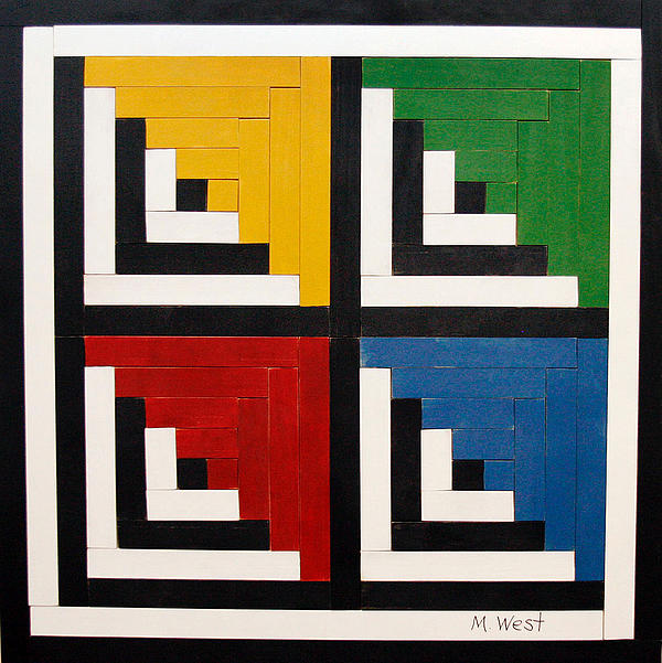 Primary Painting - Primary Colors by Marilyn West