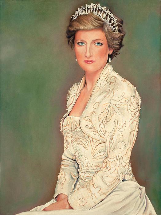 Princess Diana Painting by Douglas Fincham