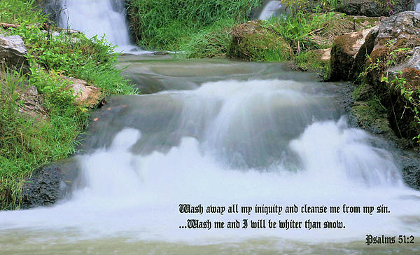 Waterfall Photograph - Psalm 51 2 by Kristin Elmquist